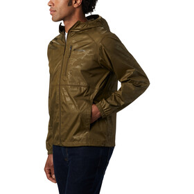 Columbia Flash Forward Windbreaker Print Jas Heren, new olive technical camo deboss
